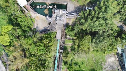 台中港:社寮發電廠前池與壓力鋼管