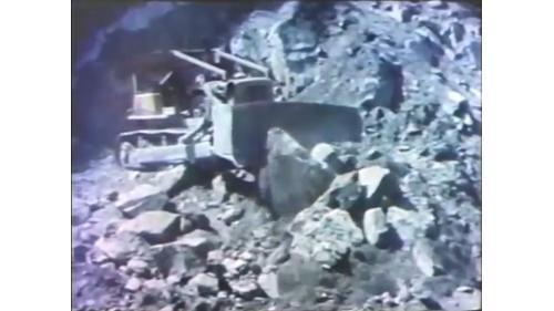 台中港建港工程在谷關開闢採石場