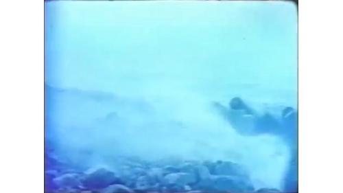 台中港築港時的強風巨浪