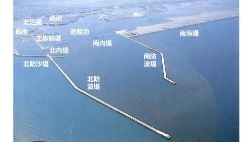 台中港第一期工程鳥瞰圖