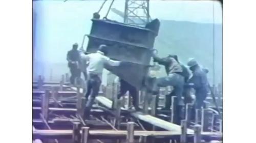 台中港防波堤沉箱製作