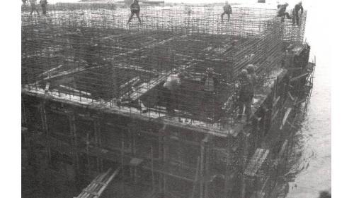 台中港建港沉箱製作於沉箱渠外加高中