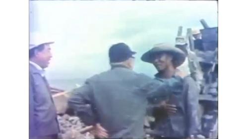 行政院長蔣經國先生視察台中港工程