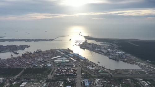 台中港北泊渠遠眺