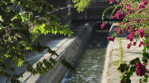 道將圳嘉義市重慶路旁:赤蘭溪水從三界埔富成橋畔導水口,經隧道400米、暗渠1070米、明渠1300米,注入八掌溪而引入道將圳(明渠在2003年7月也改成暗渠)