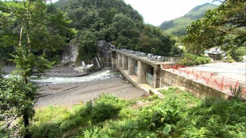 新店溪烏來發電廠水源之一的阿玉壩