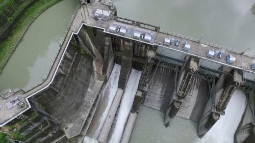 新店溪烏來發電廠水源之一的羅好壩