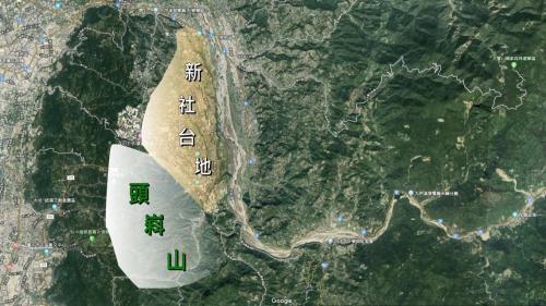 白冷圳流域--台中新社區的新社台地群和頭嵙山區