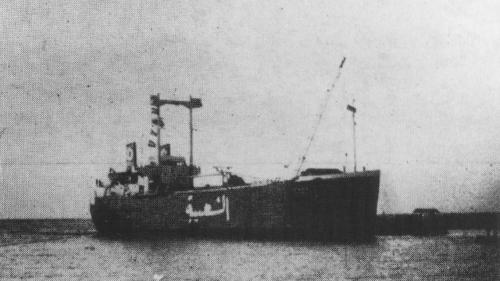 林口電廠昔日載運建廠機組零件的日本登陸艇宇宙號