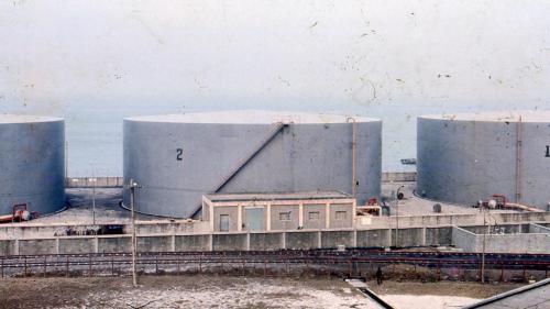 林口電廠昔日的儲油槽:共計三座每座容量1.5萬公秉
