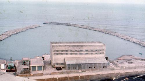 林口電廠的抽水機房及南、北堤
