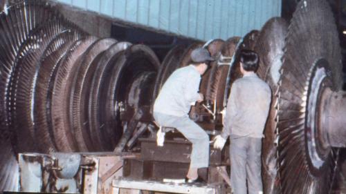 林口電廠蒸汽渦輪機轉子
