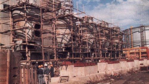 林口電廠煤倉與粉末設備混凝土澆置完成