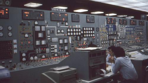 林口電廠機組控制室
