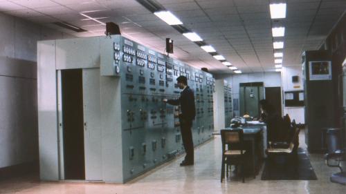 林口電廠柴油發機組控制室
