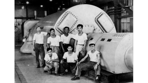 北部火力電廠1955年新完工之發電機組:裝置容量兩部機共40MW