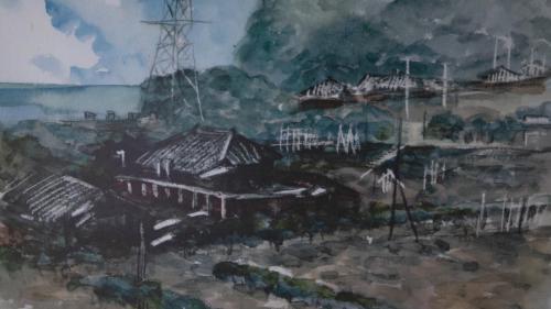 北部火力電廠員工宿舍手繪圖