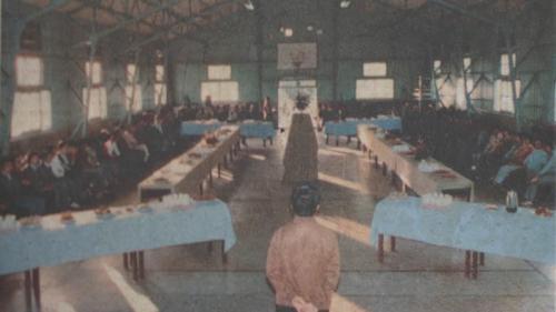 北部火力電廠可容納約100人的中山堂