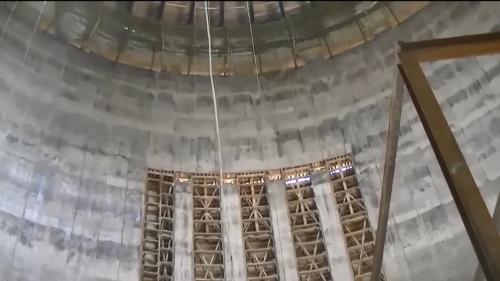 林口電廠百合煙囪之滑模工程完工