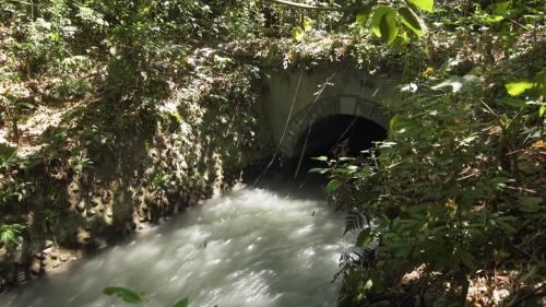 舊寮圳:大津進水口引水後進入尾寮山隧道水口