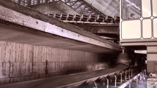 林口電廠氣浮式輸煤皮帶機