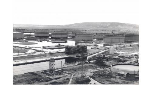 大林電廠所在地大林蒲的中油煉油廠舊照