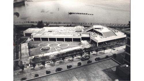 大林電廠建造中的模擬訓練中心:1974年大林電廠設置「火力發電模擬訓練中心」