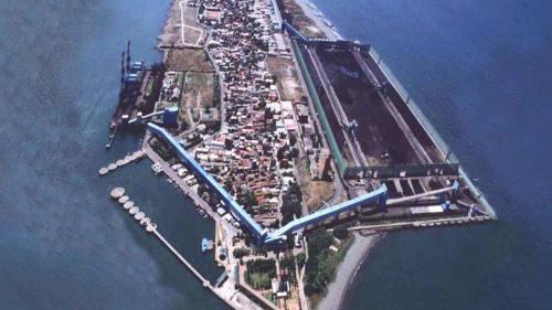 大林電廠之露天煤場與卸煤碼頭
