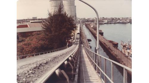 大林電廠輸送中的飛灰