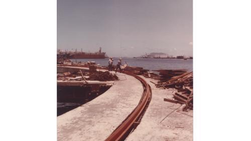 大林電廠出灰碼頭上的軌道