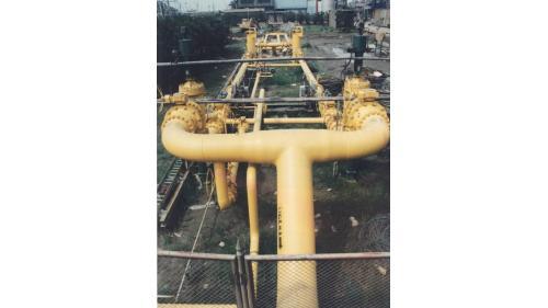 大林電廠廠區內之天然氣管線
