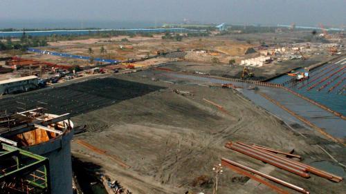 大林電廠卸煤碼頭施工-107碼頭回填區