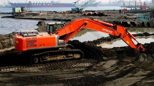 大林電廠卸煤碼頭施工-碼頭後線回填土方整理