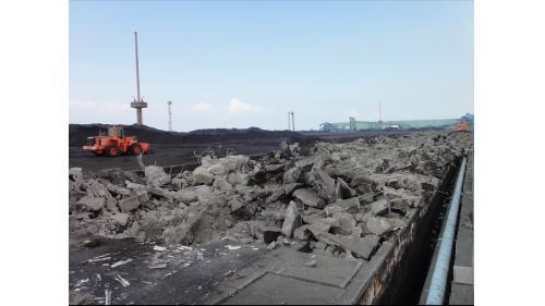 大林電廠舊有的露天煤廠拆除
