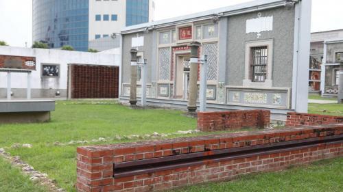 大林電廠原卸煤碼頭改建的紅毛港文化園區內一景