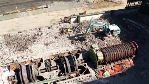 大林發電廠之舊大林一、二號機拆除