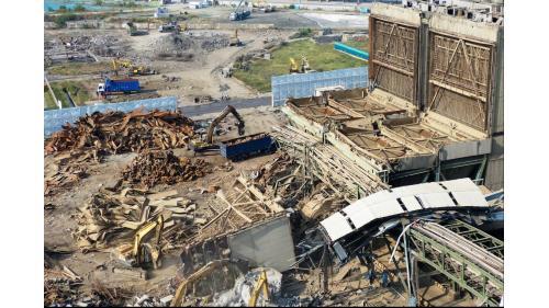 大林電廠靜電集塵器的拆除