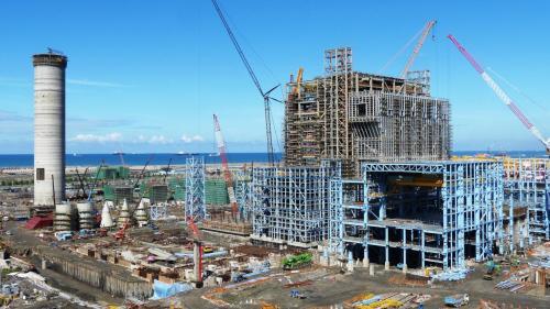大林電廠新二號機組基樁工程施工