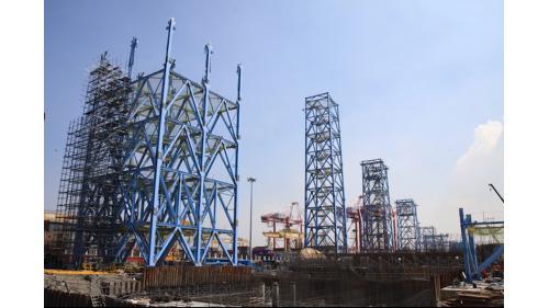 大林電廠運煤系統工程之廊道支架