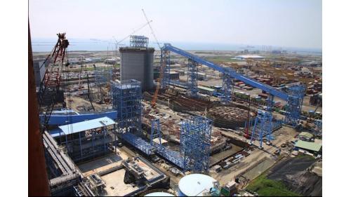 大林電廠運煤系統工程之轉運塔暨廊道施工