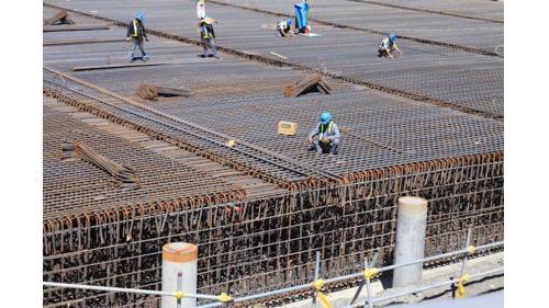 大林電廠筒式煤倉基礎鋼筋綁紮