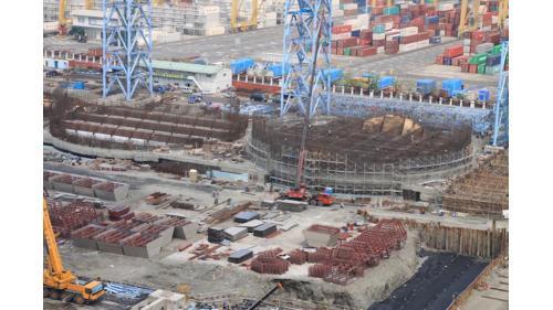 大林電廠筒式煤倉之鋼筋模板組立
