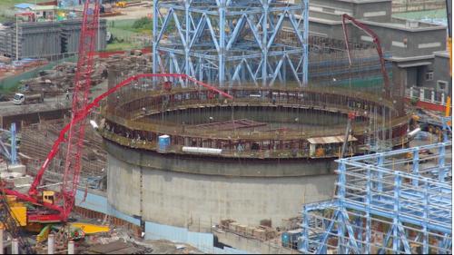 大林電廠筒式煤倉之滑模施工