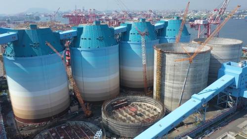大林電廠筒式煤倉
