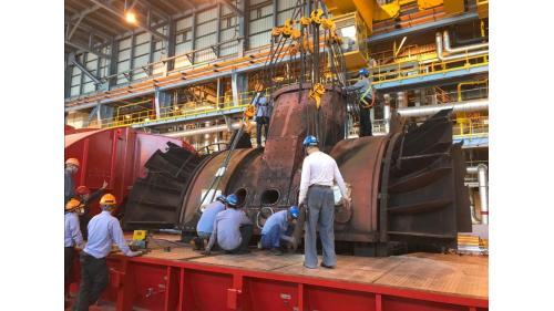 大林電廠機組保固大修之二號機低壓汽機開蓋