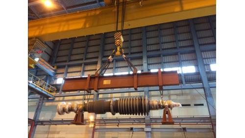 大林電廠機組二號機保固大修之二號機高壓轉子吊拆