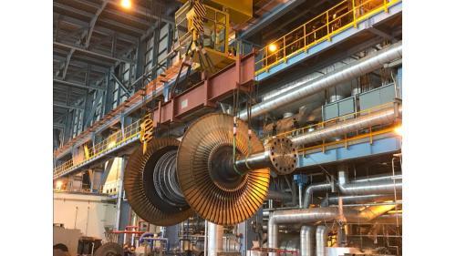 大林電廠機組保固大修之二號機低壓轉子吊拆