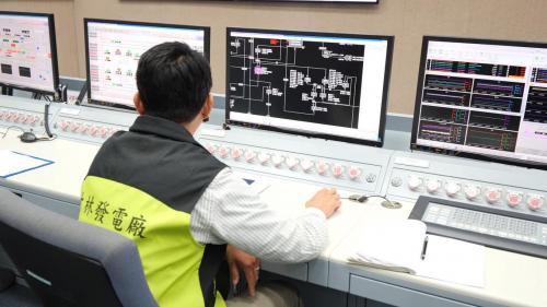 大林電廠機組控制室