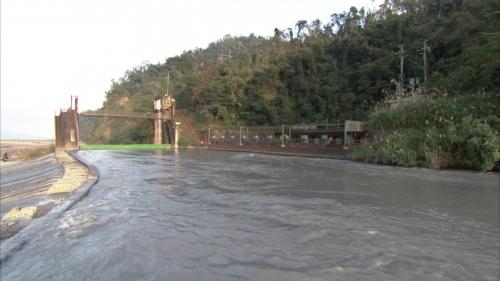 天埤電廠進水口與臨時導水路