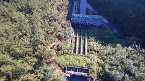 天埤電廠與壓力鋼管